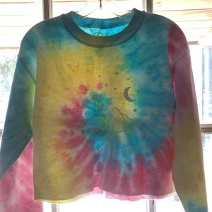 Moon & Stars Tie Dye Sweatshirt